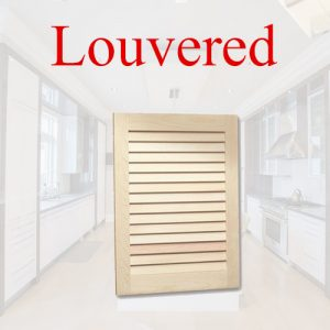 Kitchen Cabinet Door Style, Louvered