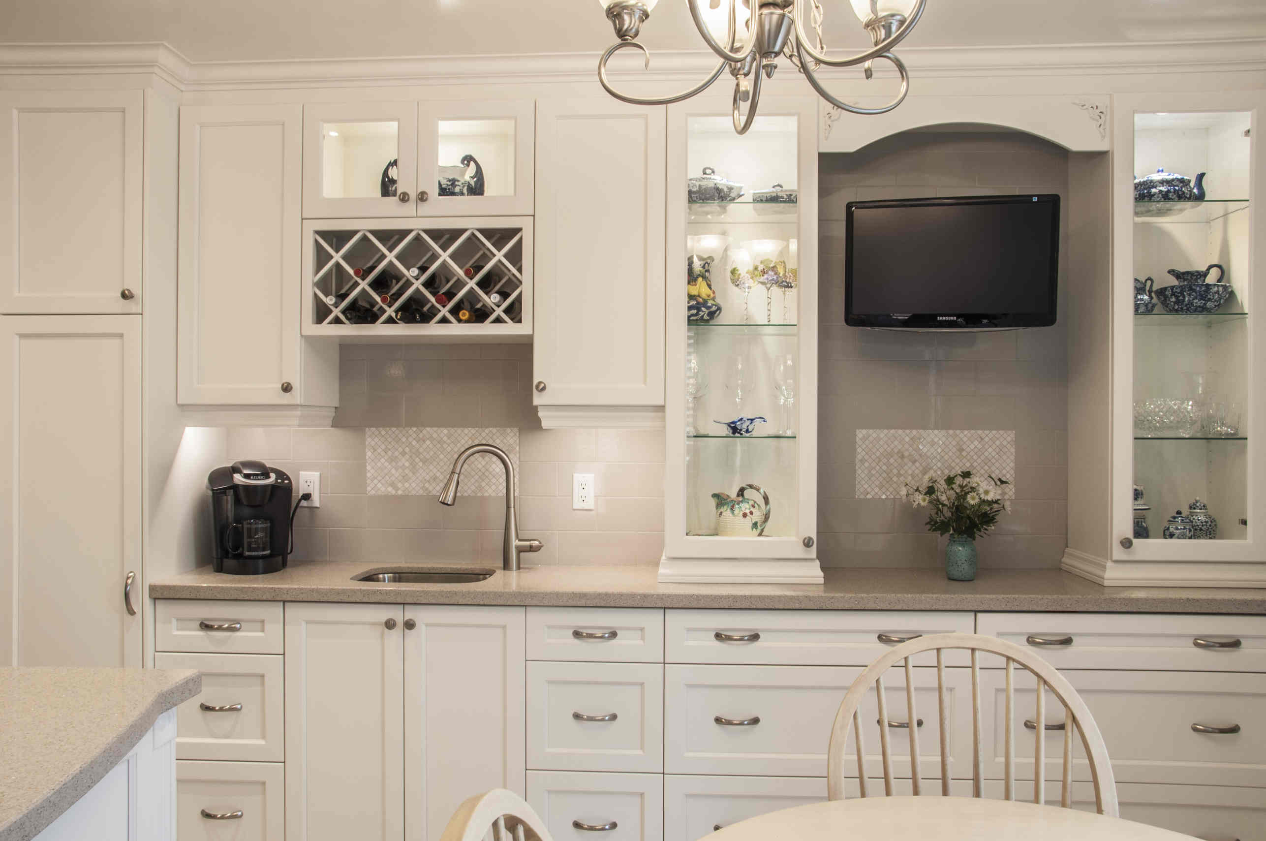 Kitchen Cabinets, Flooring, And Paint