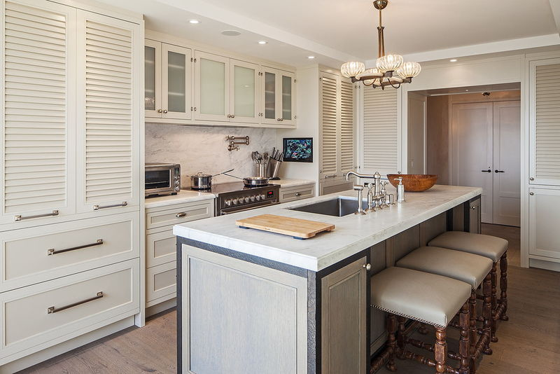 Louvered Kitchen Cabinet