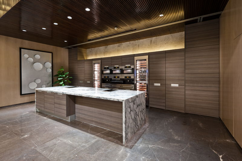 Slab Kitchen Cabinet for Custom Kitchen