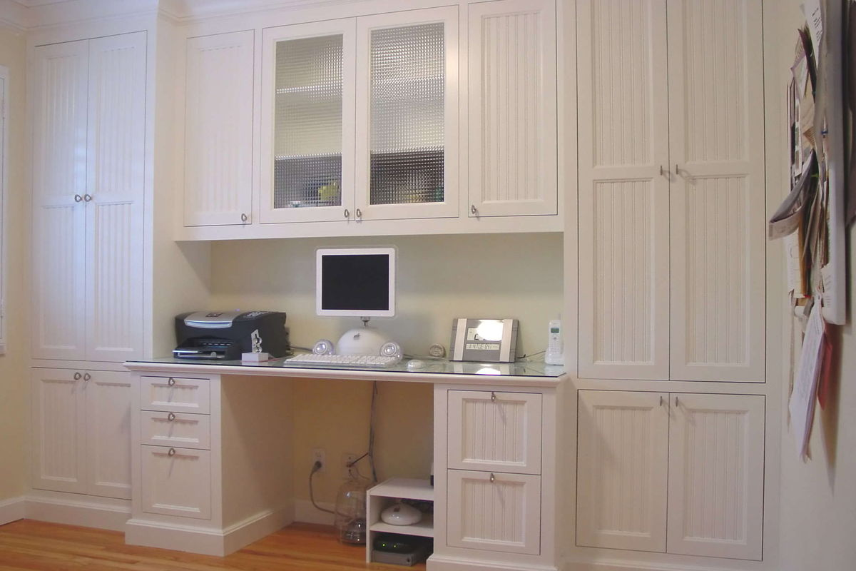 wood cabinets for custom office